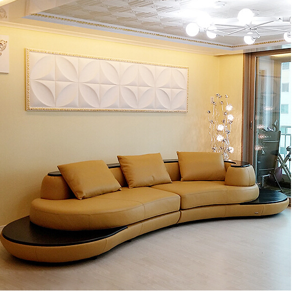 Best Selling Sofa Living Room Sofa Set Modern Leather Sofa Foshan A1159 Tan  Color