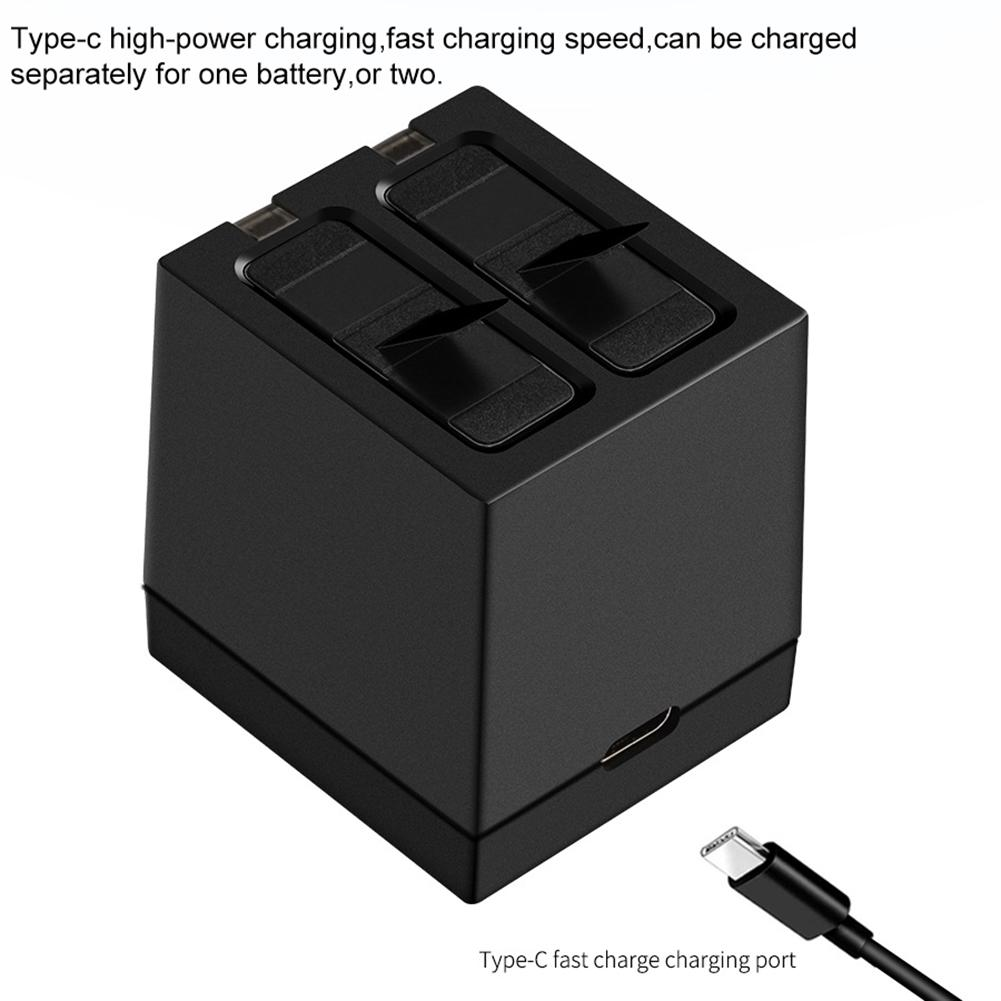 2019 New 2PCS For GoPro Hero7 Hero 6 5 Battery 3 Way Led Battery Storage Box Charger For GoPro Hero 7 Hero 6 5 Black Accessories in Sports Camcorder Cases from Consumer Electronics