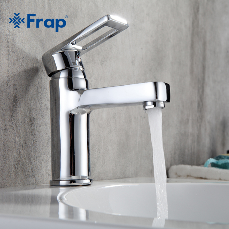 Frap Brass Widespread Bathroom Basin Faucet Waterfall Bath Sink Mixer Tap Washbasin Faucet  Hot And Cold Water Taps Grifo  F1072