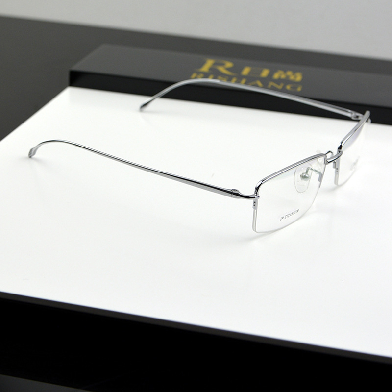 Chashma Marca de calidad superior Slim Ultra Light Eyeglasses Pure Titanium Men Miopía Gafas Monturas