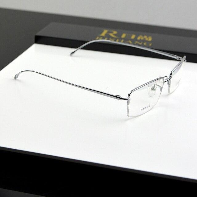 a9ef079f1b9 Chashma Brand Top Quality Slim Ultra Light Eyeglasses Pure Titanium Men  Myopia Glasses Frames