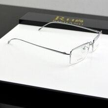 cbace3e2218d7 Chashma Marca Top Qualidade Ultra Slim Leve Óculos Homens Miopia Armações  de Óculos de Titânio Puro