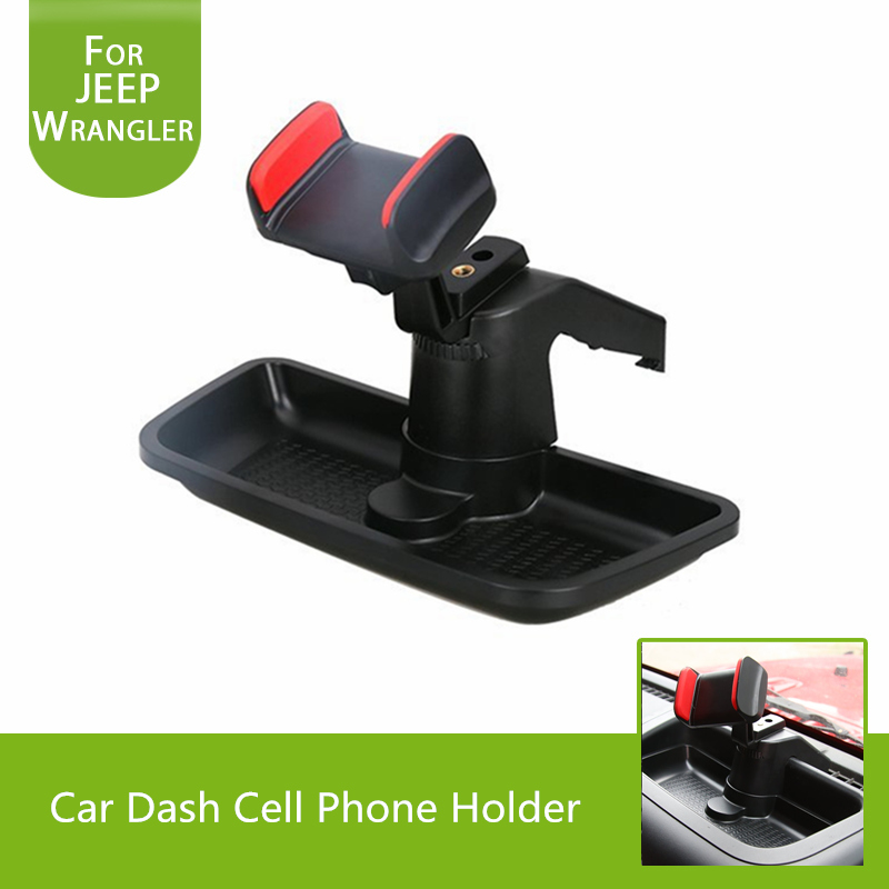 Car Dash Cell Phone Holder With ABS Storage Box 360 Degree Rotate GPS Bracket Holder For