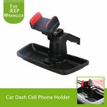 Автомобиль тире сотовый телефон владельца с ABS коробка для хранения 360 градусов Поворот GPS Кронштейн Держатель для Jeep Wrangler 2007- 2017 аксессуары