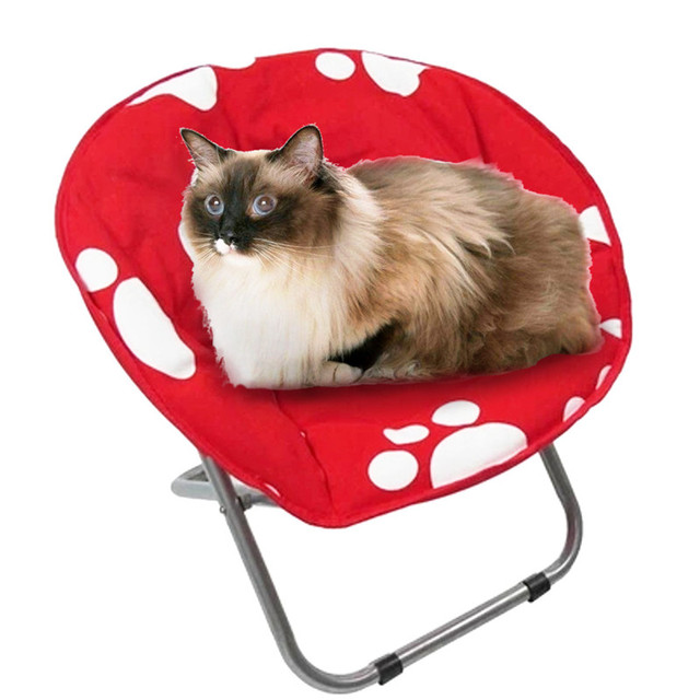 Small Dog Bed Chair Pets House Sofa Kennel Soft Fabric Pet Dogs Cats Warm  Bed Foldable