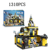 city Lepins city Police series Police Fight toy Building Blocks Bricks DIY Toys Model kits gifts for children
