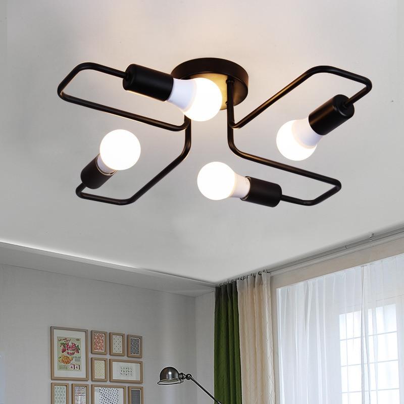 DAR 4/6 Light Retro Wrought Iron Ceiling Lights Bedroom