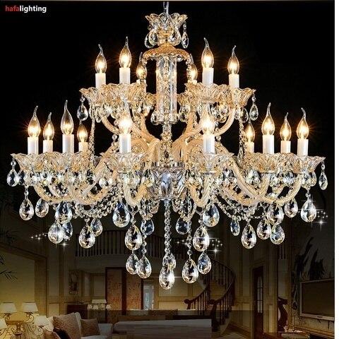 iluminacao do candelabro de cristal moderna exportacao k9 lustres cristal vela villa sala estar
