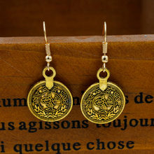 Coins Drop Earrings Dangle Earring Women Silver Bronze Statement Charm Eardrop Retro Bohemian Ear Jewelry Accessories Pendientes(China)
