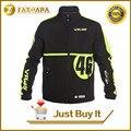 2017 Nova LUNA ROSSI MotoGP VR46 Blusão Camisolas da Equipa de Condução Revestimentos Da Motocicleta Moto VR46 Vento Coats Roupas masculinas