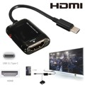 Type C USB 3.1 Male to HDMI Female 1080P HDTV Adapter Cable For Laptop Cell Phone Tablets Vedio Output
