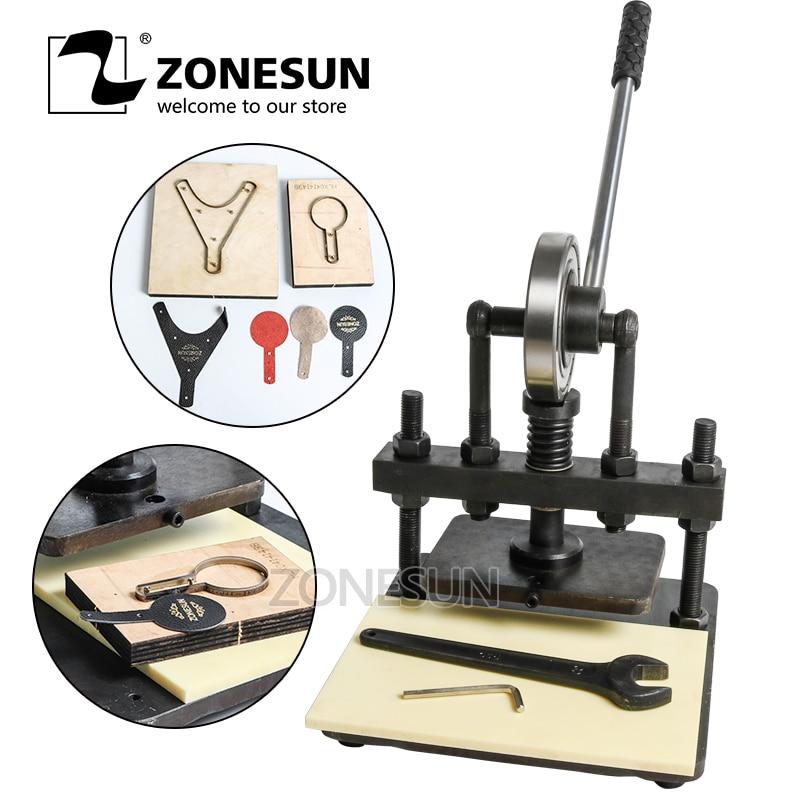 ZONESUN 20x14 cm main en cuir machine de découpe papier photo PVC/EVA feuille moule coupe, manuel en cuir moule/machine de découpe