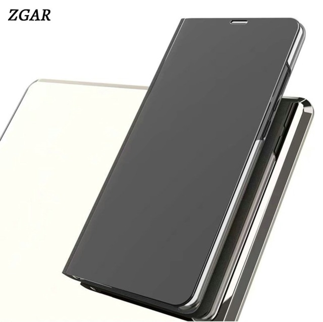 best website 85dd0 18f43 US $7.59 10% OFF|Mirror Case for Xiaomi Redmi Note 5 Pro Clear View Flip  Cover Smart Transparent Phone Bag Cases for Xiaomi Redmi Note 5 Pro ZGAR-in  ...