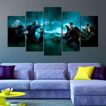Science Fiction Cartoon Movie HD Print Wall Art Canvas Painting For Room Modern Decorative 5 Piece Harry Potter
