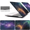 Estrella caja del ordenador portátil para macbook air 11 13 pulgadas para apple mac Pro con Retina 12 13.3 15 con la Barra Táctil + cubierta del teclado
