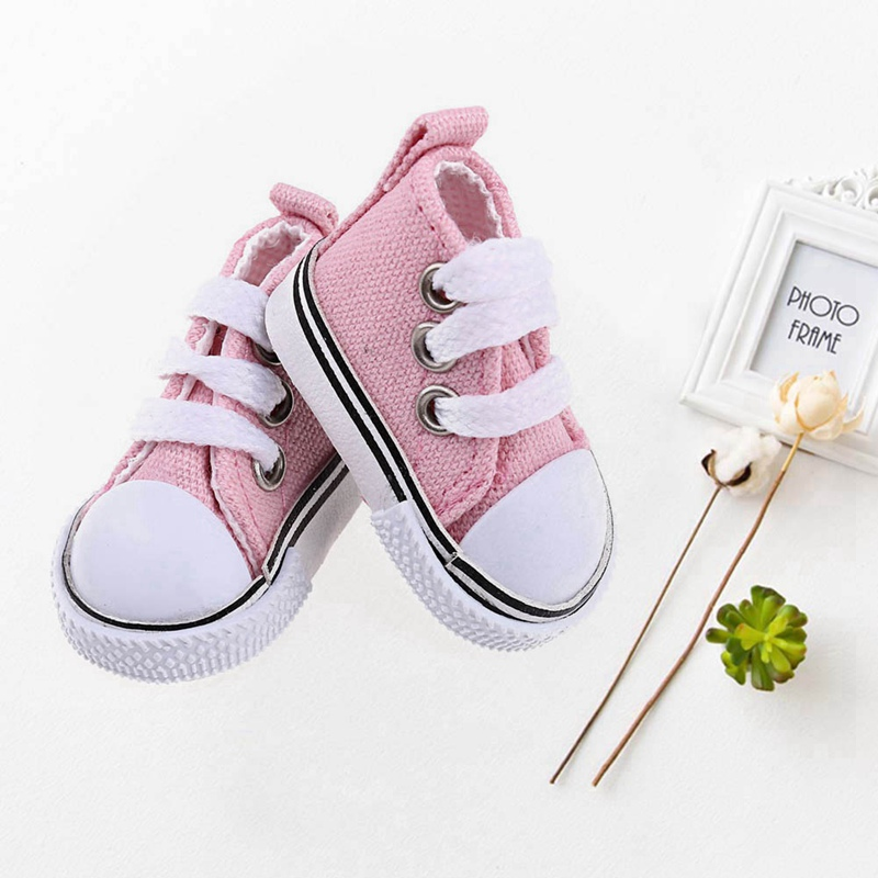 5 Colors 5CM Fashion Denim Canvas Mini Toy <font><b>Shoes</b></font> For <font><b>Doll</b></font> Fit For <font><b>1/6</b></font> 30cm <font><b>Doll</b></font> Accessories image