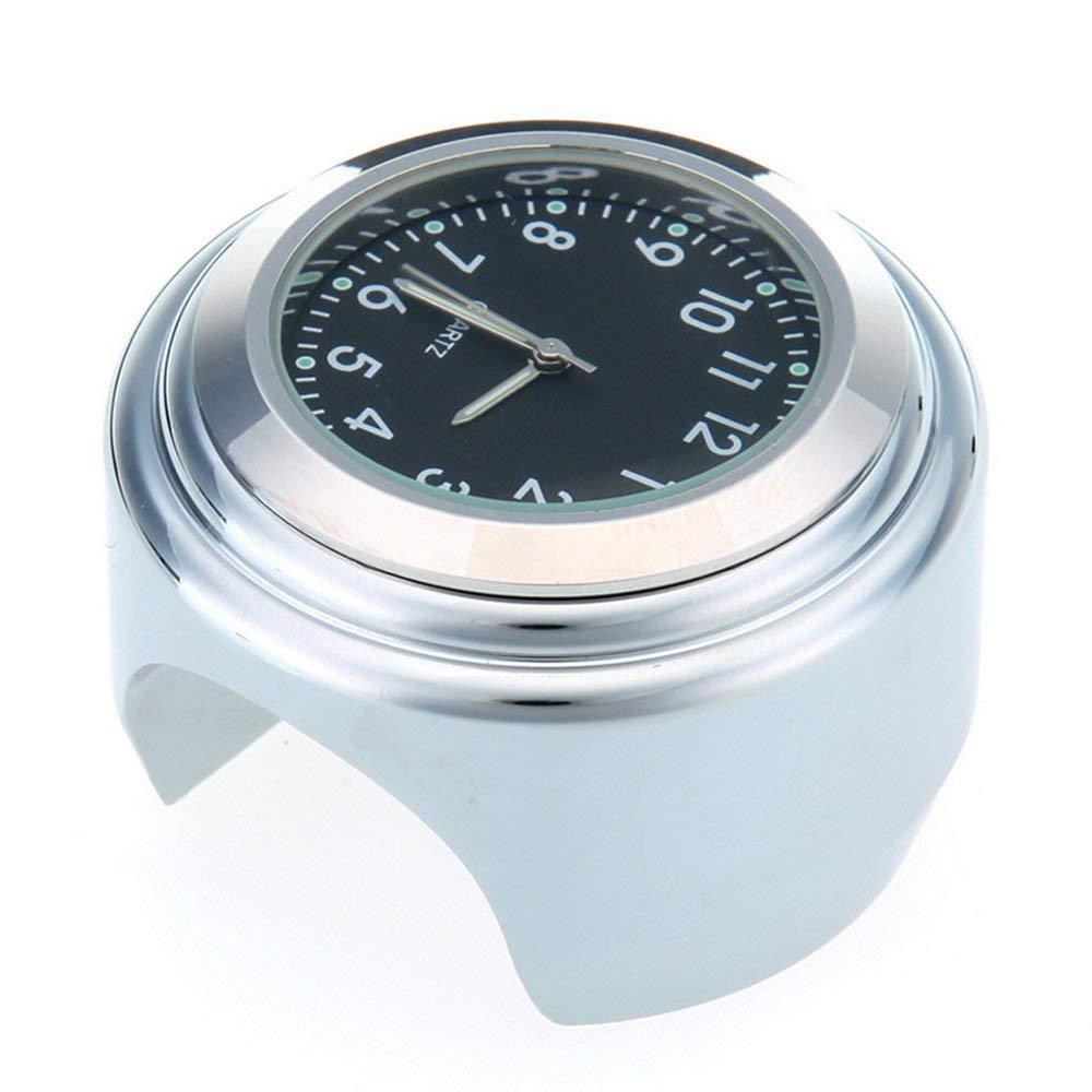 1 Chrome Waterproof 7/8 Motorcycle Handlebar Watch Mount Temp Thermometer Clock Motorbike Watches for Harley Davidson Cruiser цена