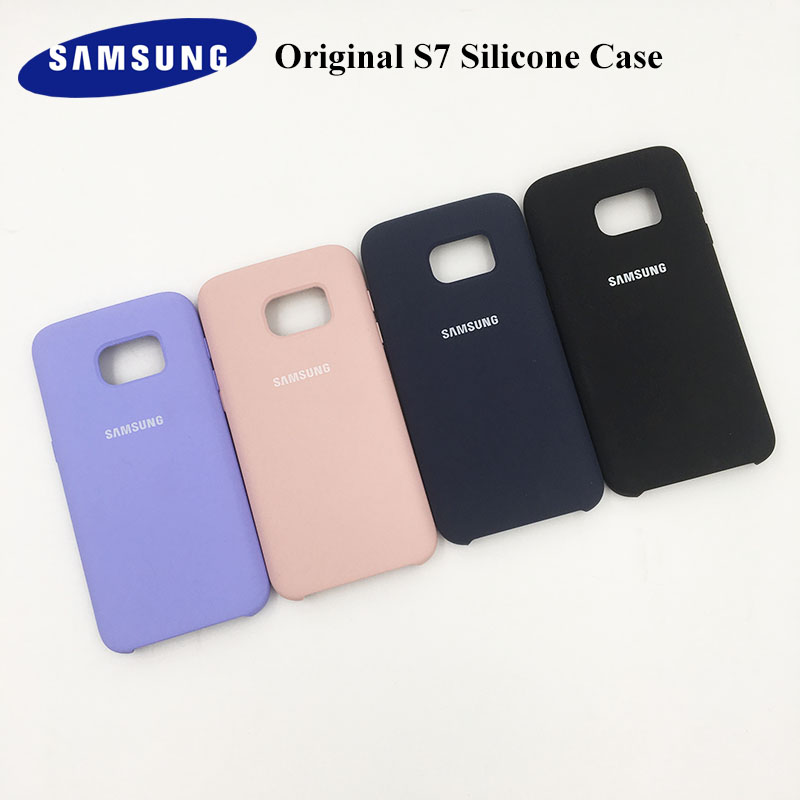 100% Original Samsung Galaxy S7 Case G930F Liquid Silicone Protective Cover Back Phone Shell Anti-fall Coque With Logo 5.1 inch samsung