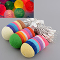 3M 20 Multicolor Colorful Creative Handmade Durable Cotton Ball String Light For Xmas Feast Banquet Decoration Ornament