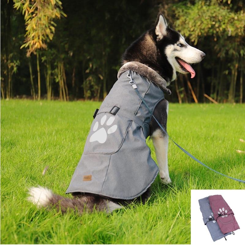 New Pet Dog Clothes Big Large Dog Winter Warm Jacket Coat Soft Warm Fleece Vest Apparel