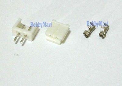 10set, 2.5 EH CONNECTOR 2-Pin JST plug ( Male, Female, Crimps )