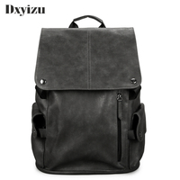 Men Fashion Casual Backpack PU Leather Leisure Backpacks Large School Bag For Teenagers Male Boys Rucksack New Cool Backpacks