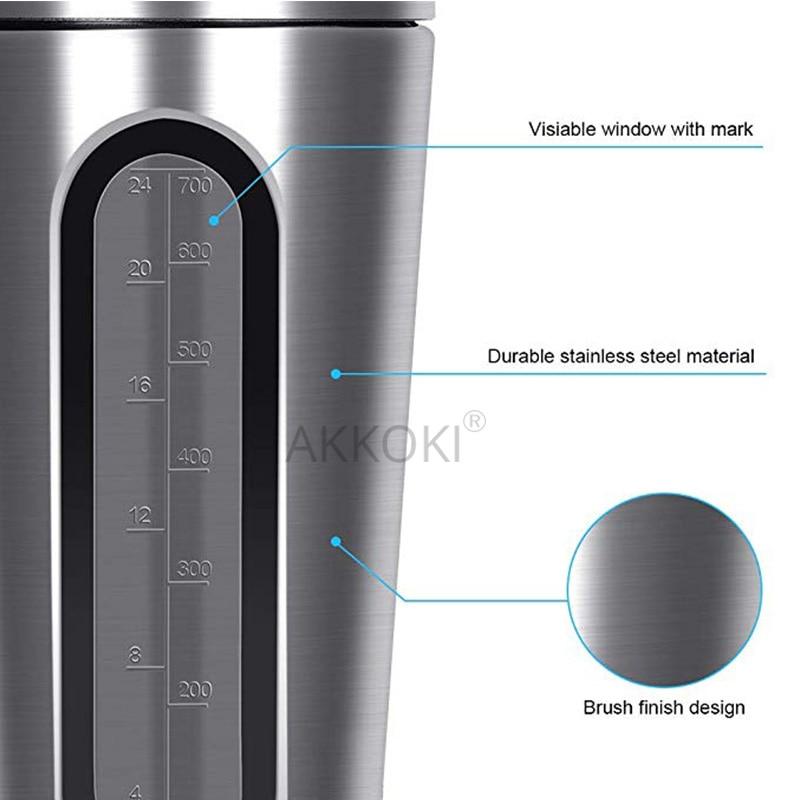 HTB1AZ7iQYrpK1RjSZTEq6AWAVXan 28OZ Whey Protein Powder Sports Shaker Bottle For Water Bottles Gym Nutrition Blender Cup Stainless Steel Vacuum Insulation