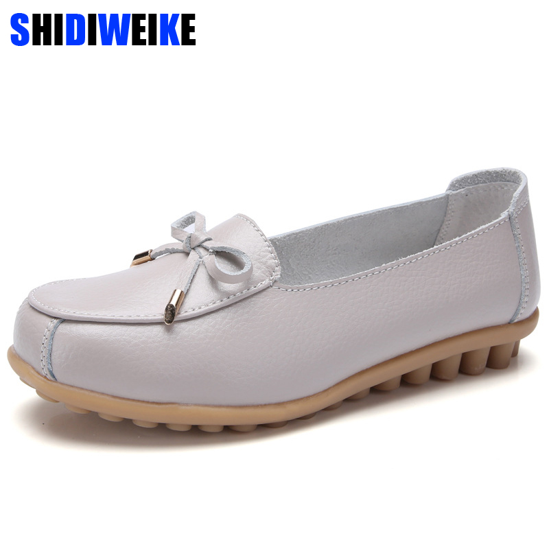 Women Casual Shoes Female Genuine Leather Butterfly-knot Loafers Shoes Plus Size 43 44 Fashion Slip On Shallow Flats Shoes n645Women Casual Shoes Female Genuine Leather Butterfly-knot Loafers Shoes Plus Size 43 44 Fashion Slip On Shallow Flats Shoes n645