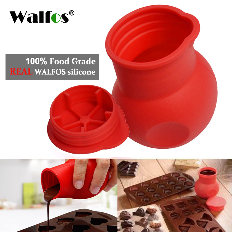 Us 305 9 Offwalfos Practical Silicone Chocolate Melting Pot Butter Heat Milk Pourer Jug Mould Butter Sauce Milk Baking Pouring In Baking Pastry