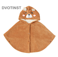 Dvotinst Baby Boys&Girls Bear Clothes Coat Infant Cloak Outerwear Winter Thicking warm Hooded Coat Toddler Jacket Cardigan Cloth