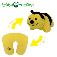 Bebecocoon Convertible Ushaped Neck Pillow Kawaii Animal Bee Stuffed Plush Toy Decorative Pillows Multifunctional Travel Cushion