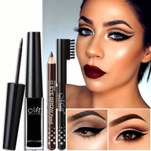 Women Makeup Set Waterproof Long Lasting Eyeliner Liquid +2p