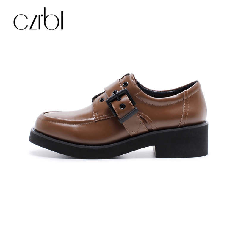 CZRBT British Style Women Casual Flats Shoes Soft Solo For Walking Genuine Cow Leather Top Quality Handmade Oxfords Derby Shoes 2017 new handmade women flats genuine leather oxfords shoes woman fashion ballets flats casual moccasins for women sapatos mujer