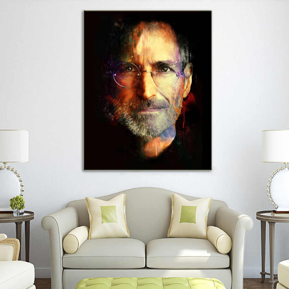 Unframed Steve Jobs Great Man Canvas Art Print Painting Poster Wall Art Picture For  Commemorate Study Room Home Decoration L831