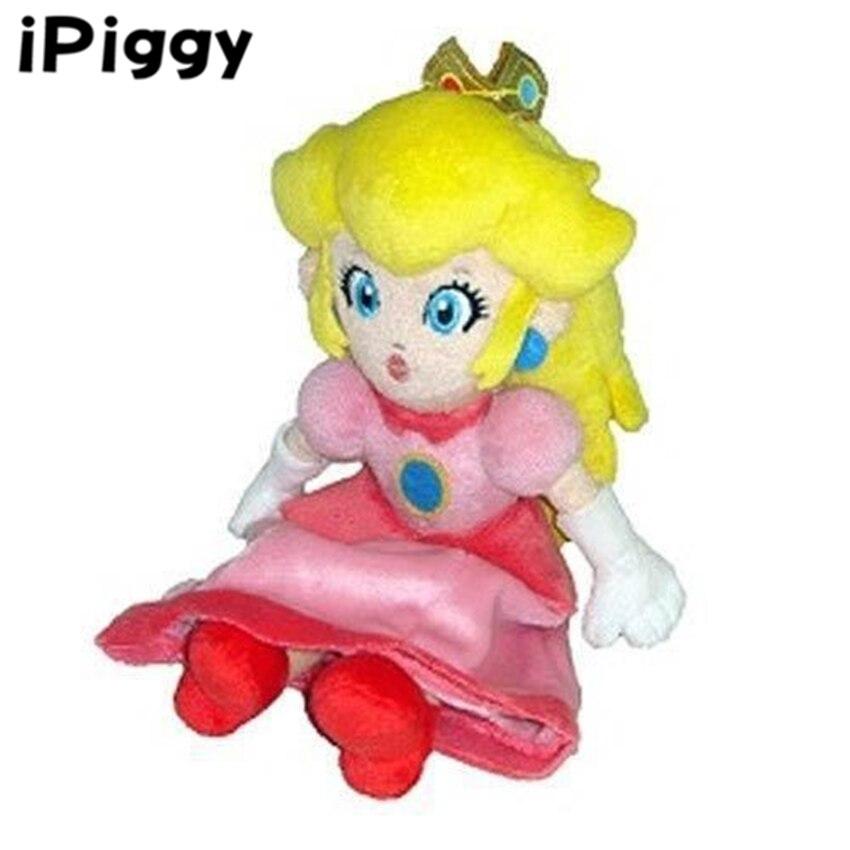 8in Princess Peach Plush  New Nintendo Super Mario Bros Sanei Toy Doll Pink