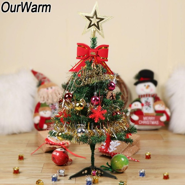 Ourwarm 60cm Diy Artificial Christmas Tree Stand Holder Tabletop Xmas Decoration For Home Navidad