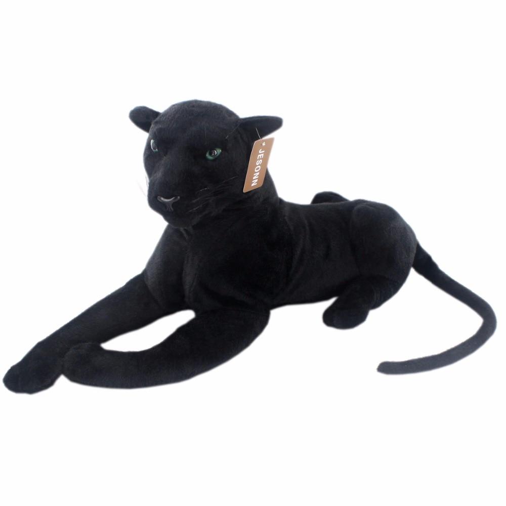 JESONN reális töltött állatok Panther plüss játékok gyermek születésnapi ajándékok