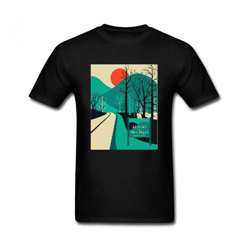 2018 Mans New Arrive Funny Twin Peaks Cotton T Shirt for men