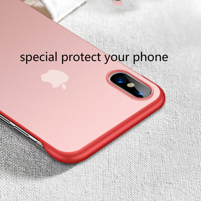 Image 5 - New Fashion phone case PC Cover for iphone XS Max XR Frameless Transparent Matte Hard  Case for iphone 6 7 8 Plus Finger Ring-in Fitted Cases from Cellphones & Telecommunications