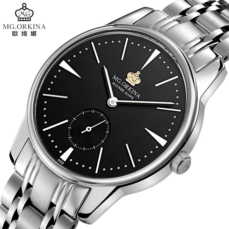 Man Business Black Simple Dial Male Quartz Watches 2018 Fashion Silver Stainless Steel Clock Men Waterproof 30m Wristwatch wlisth stainless steel wrist watch men watches black dial silver belt fashion male quartz clock waterproof man simple now fd1382