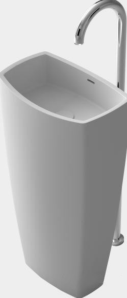 все цены на Bathroom Oval Freestanding Pedestal Vessel Wash sink Solid surface stone wash basin RS38390