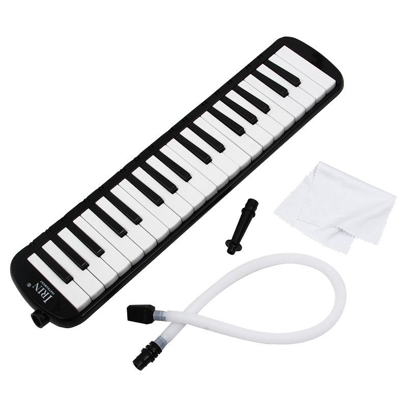 Hot-IRIN Black 37 Piano Keys Melodica Pianica W/Carrying Bag For Students New