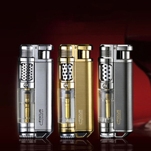 Torch Turbo Lighter gas  Cigarettes Lighters Spray Gun 1300C Visible Gas Metal lighters smoking accessories