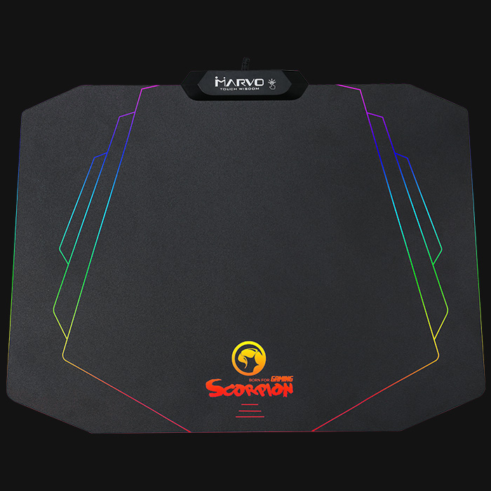 MARVO Gaming Mouse Pad ,Rubber Waterproof  USB Backlight Gamer Mousepad,  365 x 275 x 3 mm Speed/Control Version Mat MG02
