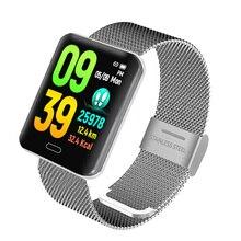 купить B8 Smart Bracelet Watch Blood Pressure Measurement Fitness Bracelet Waterproof IP67 Heart Rate Monitor Activity Tracker дешево