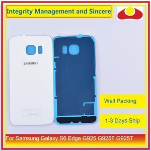Image 4 - 50 Pcs/lot pour Samsung Galaxy S6 Edge G925 G925F G925T boîtier batterie porte arrière couvercle en verre châssis coque de remplacement