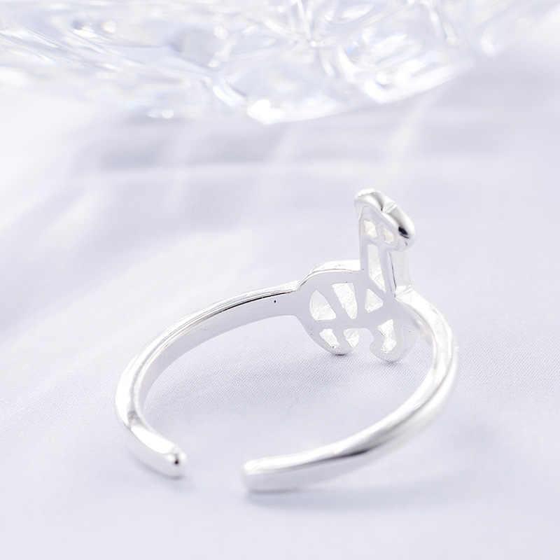 แฟชั่น 925 เงินสเตอร์ลิง Silver แหวนสำหรับเครื่องประดับงานแต่งงานของผู้หญิง Punk Retro โบราณปรับขนาดนิ้วมือแหวน