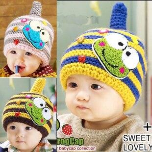 5colors Free shipping winter cartoon frog children hats baby pocket beanie boy earflap girl skullcap retail Lc13082904