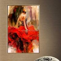 Красная юбка 100% ручной росписью Сексуальная Голый Обувь для девочек китайский сексуальная девушка ню Для женщин картина маслом на холсте Г