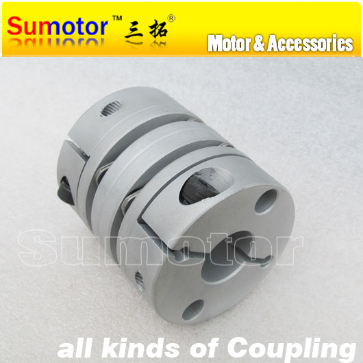 CNC parts OD55mm L65mm Bore 14mm 15mm 16mm 18mm 19mm 20mm 22mm 24mm 25mm servo stepper motor double Diaphragm Flexible Coupling  new flexible aluminum alloys double diaphragm coupling for servo and stepper motor couplings d 44 l 50 d1 and d2 are 8 to 20 mm